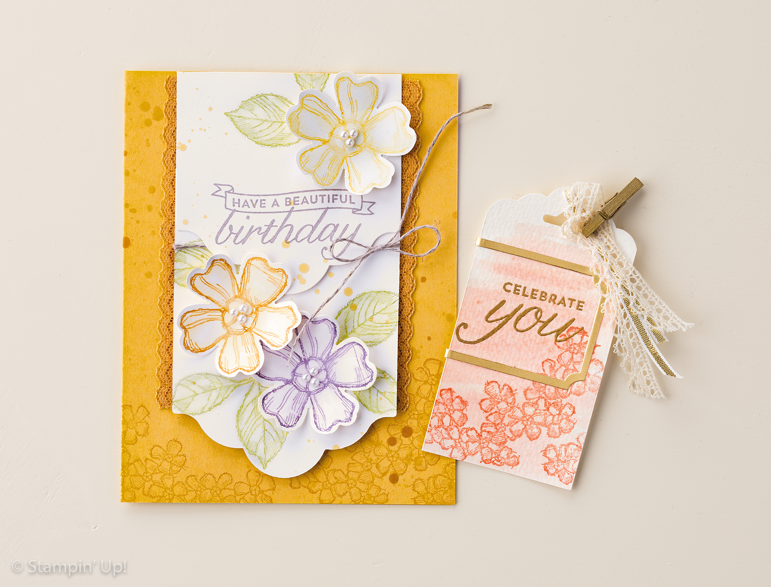 Scalloped Tag Topper Punch, card and tag