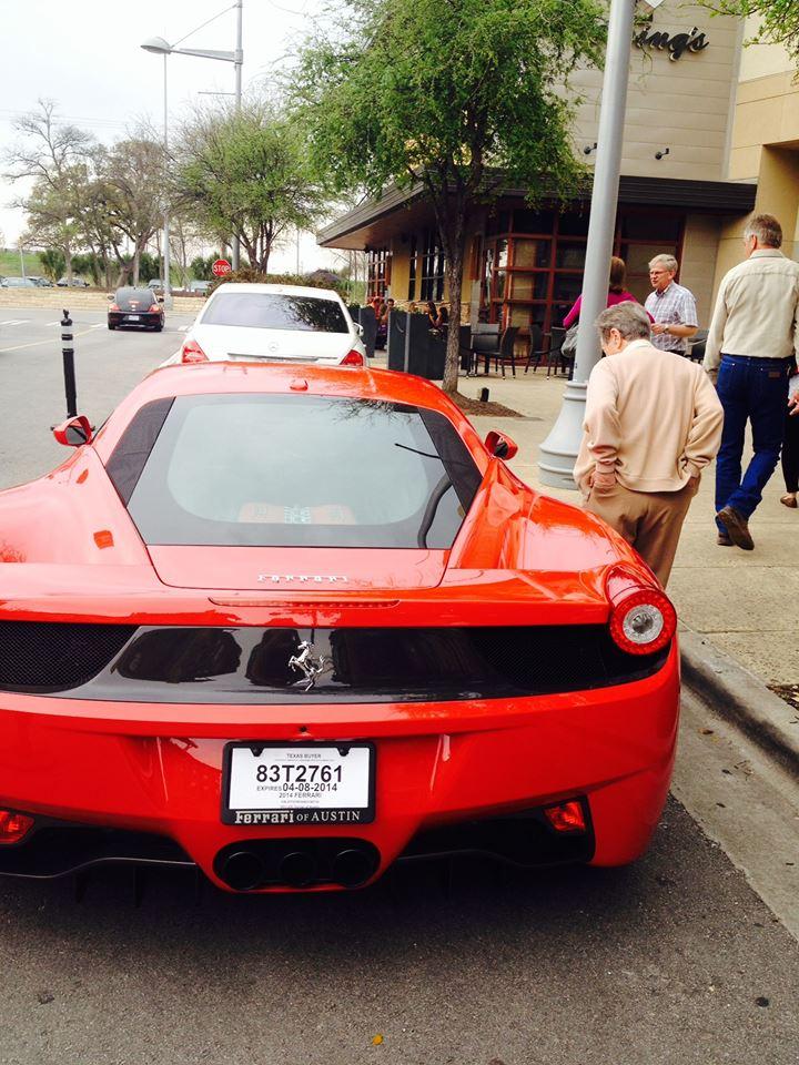 Papaand his red Ferrari