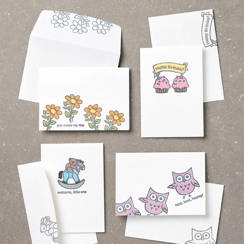 Hoot Hoot Hooray cards-use